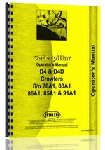 Operators Manual for Caterpillar D4 Crawler