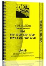 Operators Manual for Caterpillar D7G Crawler