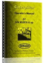 Operators Manual for Caterpillar D7 Crawler