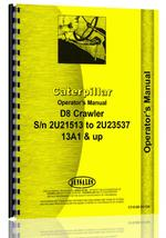Operators Manual for Caterpillar D8 Crawler
