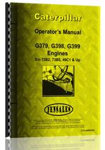 Operators Manual for Caterpillar G399 Engine