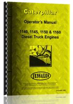 Operators Manual for Caterpillar 1150 Engine