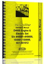 Operators Manual for Caterpillar D4600 Engine