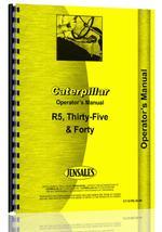 Operators Manual for Caterpillar 35 Crawler