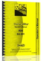 Operators Manual for Caterpillar RD6 Crawler
