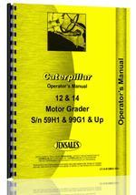 Operators Manual for Caterpillar 12 Grader