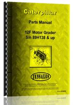 Parts Manual for Caterpillar 12F Grader