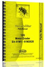 Parts Manual for Caterpillar 12G Grader