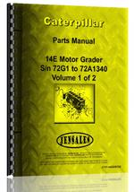 Parts Manual for Caterpillar 14E Grader