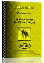 Parts Manual for Caterpillar 14 Grader