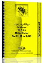 Parts Manual for Caterpillar 25 Grader