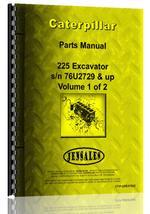 Parts Manual for Caterpillar 225 Excavator