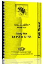 Parts Manual for Caterpillar 35 Crawler