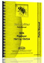 Parts Manual for Caterpillar 583K Pipelayer