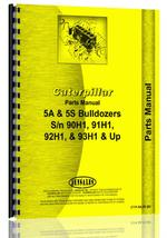 Parts Manual for Caterpillar D5 Crawler 5A Bulldozer Attachment