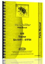 Parts Manual for Caterpillar 619 Tractor Scraper