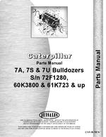 Parts Manual for Caterpillar D7G Crawler 7U Bulldozer Attachment