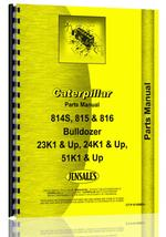 Parts Manual for Caterpillar 814S Bulldozer Attachment
