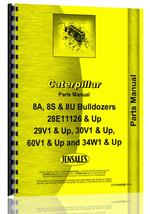Parts Manual for Caterpillar D8K Crawler 8S Bulldozer Attachment