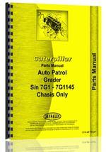 Parts Manual for Caterpillar Auto Patrol Grader