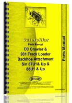 Parts Manual for Caterpillar 931 Backhoe Attachment