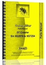 Parts Manual for Caterpillar D7 Crawler