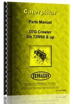 Parts Manual for Caterpillar D7G Crawler