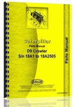 Parts Manual for Caterpillar D9 Crawler