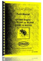 Parts Manual for Caterpillar D13000 Engine