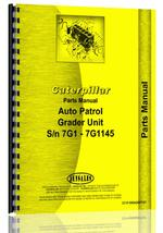 Parts Manual for Caterpillar 11 Grader