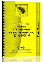 Parts Manual for Caterpillar HT4 Traxcavator