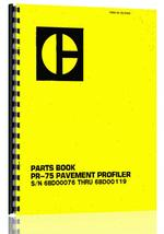 Parts Manual for Caterpillar PR-75 Pavement Profiler