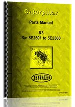 Parts Manual for Caterpillar R3 Crawler