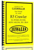Parts Manual for Caterpillar R5 Crawler