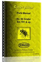 Parts Manual for Caterpillar 66 Grader