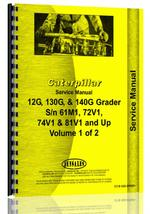 Service Manual for Caterpillar 12G Grader