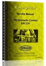 Service Manual for Caterpillar 183 Hydraulic Control Attachment