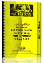 Service Manual for Caterpillar 613 Tractor Scraper