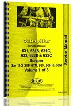 Service Manual for Caterpillar 631 Tractor Scraper