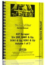 Service Manual for Caterpillar 637 Tractor Scraper