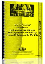 Service Manual for Caterpillar 815 Compactor