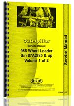 Service Manual for Caterpillar 988 Wheel Loader