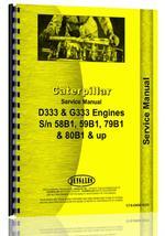 Service Manual for Caterpillar G333 Engine