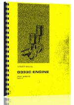 Service Manual for Caterpillar G333C Engine
