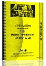 Service Manual for Caterpillar 7261 Marine Transmission