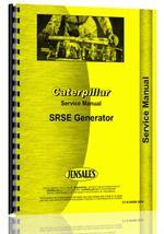 Service Manual for Caterpillar SRSE Generator