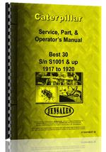 Operators Manual for Caterpillar Best 30 Tracklayer