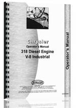Operators Manual for Chrysler 318 Engine