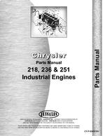 Parts Manual for Chrysler 218F Engine