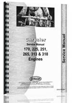 Service Manual for Hesston 6400 Windrower Chrysler Engine
